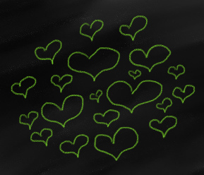 Thing-A-Day 2012 Day 21: Green Hearts